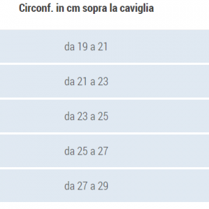 CAVIGLIERA CALZINO SOTTILE
